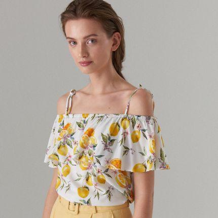Bluzki i koszulki damskie Z odkrytymi ramionami Rozmiar