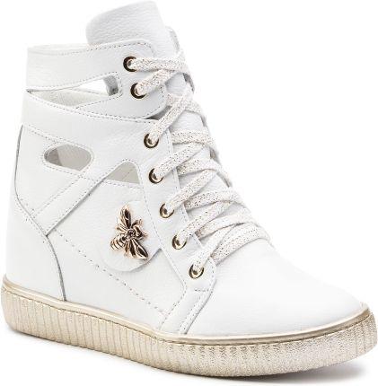 Sneakersy R.POLAŃSKI 0832 Biały Lico Sneakersy Półbuty