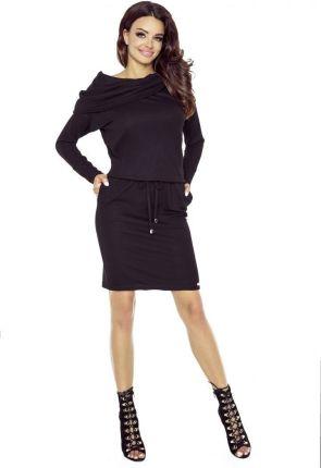 2319085898 Podobne produkty do Fobya Czarna Ciepła Sukienka z Golfem w Norweskie Wzory