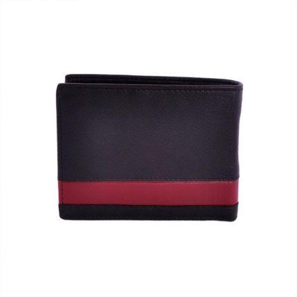 270014055e68d Portfel męski PIERRE CARDIN CB TILAK26 8805 RFID czarny z czerwonym paskiem  - czarny
