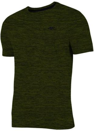 8fe38eb4b754f6 Koszulka, t-shirt męski 4F TSM002, khaki melanż, Lato 2019 - Khaki
