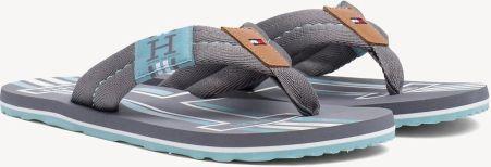 b8ca345a6547a Tommy Hilfiger szare męskie japonki Badge Textile Beach Sandal Steel Grey -  42