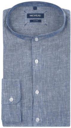 a1ee7b33c Koszula lniana o kroju tailored fit z krótką listwą guzikową ...