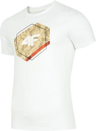 a6bde9bac954f7 4F Koszulka kibica męska TSM500 - BIAŁY - Ceny i opinie - Ceneo.pl