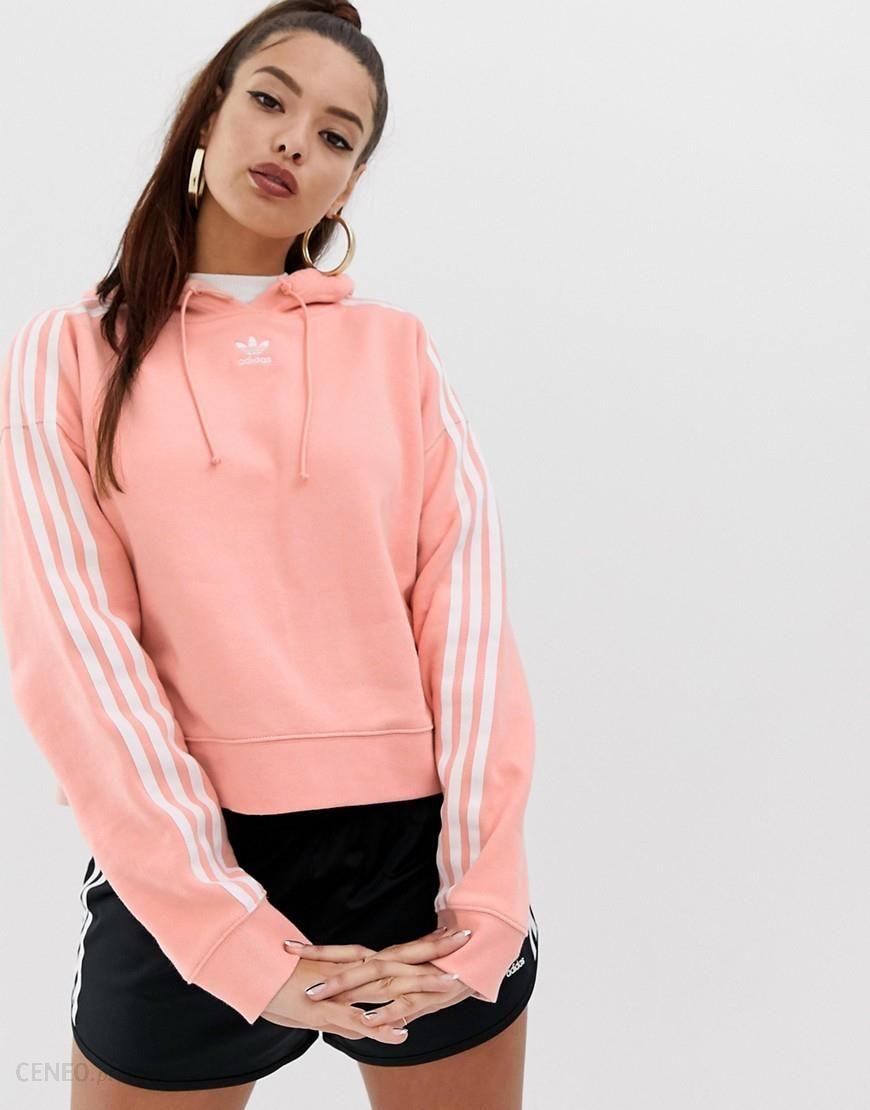 adidas Originals adicolor cropped hoodie in pink Pink
