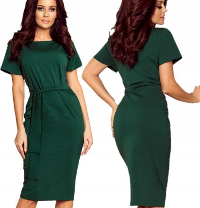 c37991fb65 Plisowana sukienka koktajlowa pasek F69 ZIELONA - Ceny i opinie ...