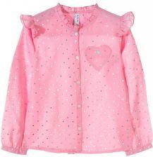 dec5c8a63b2d4f Koszula dziewczęca różowa w srebrne kropki ...