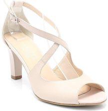 d7f05dd7 KOTYL 4325 BEŻOWE - Taneczne sandałki ze skóry - Beżowy