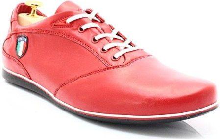 LAVAGGIO 432 BRĄZOWE Wiztowe buty ze skóry naturalnej