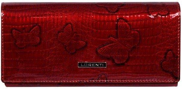92bf863d50865 LORENTI Skórzany portfel damski czerwony Lorenti 64003 - Czerwony - zdjęcie  1