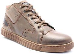 9c02a92b KENT 303 BRĄZOWE - Zimowe buty męskie, skóra - Brązowy