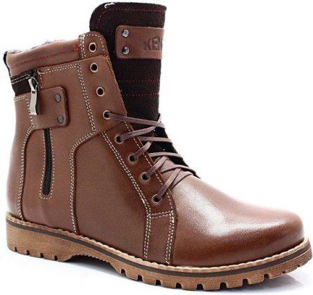 zimowe buty męskie ze skóry kent-but 465