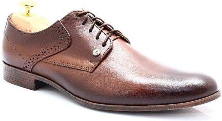 84b05bc8c309cf MAN FASHION 2851 BRĄZ - Eleganckie, skórzane buty męskie - Brązowy ...
