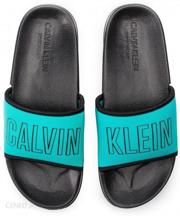 Calvin Klein turkusowe klapki Slide Beetroot 4142 Ceny i opinie Ceneo.pl