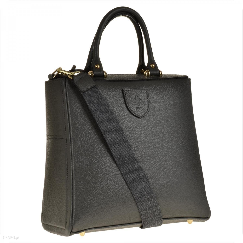 Borse in Pelle Elegancka skórzana torebka kuferek szara