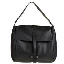 68a896ab911c8 Vera Pelle Torebka duża shopper bag czarna z paskiem