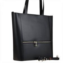 fd02d64f5a204 Borse in Pelle Elegancka czarna torebka shopper duża