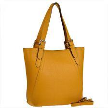 8fdf8c7f86890 Genuine Leather Torebka skórzana shopper xl genuine leather musztardowa