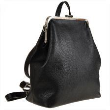 2dcd5be52c27f Genuine Leather Torebko plecak skórzany czarny