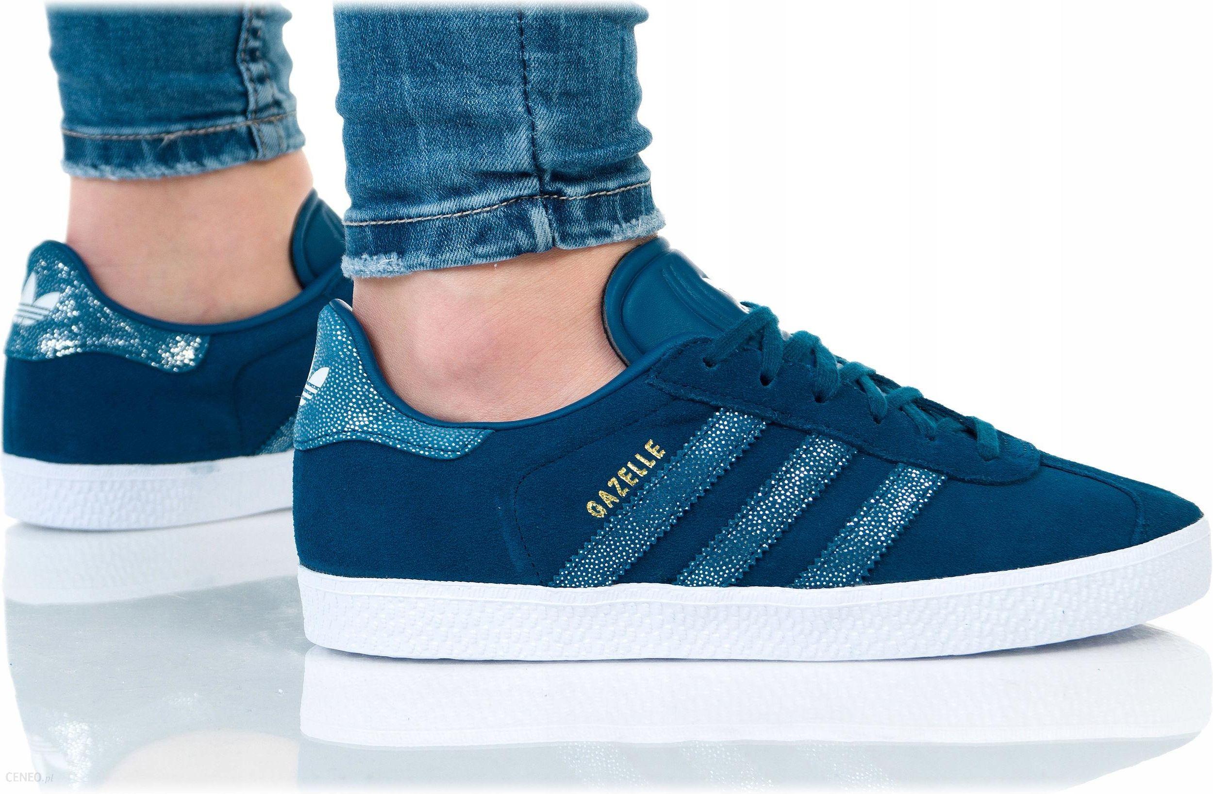 Buty Adidas Damskie Gazelle J CG6695 Niebieskie Ceny i opinie Ceneo.pl