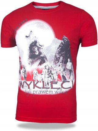 9ff307c9d3 Koszulka Patriotyczna Żołnierze Wilk r 4XL Czerwon Allegro