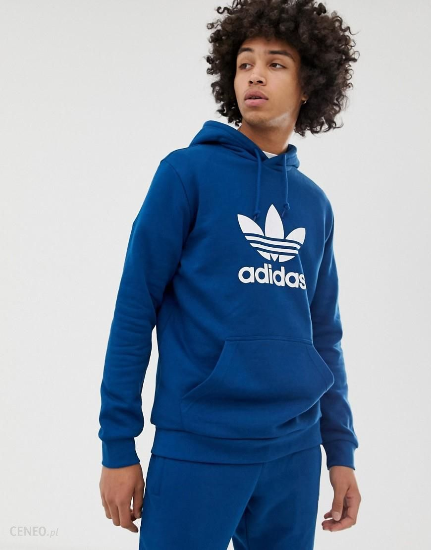 Adidas Originals Hoodie With Trefoil logo Blue Blue Ceneo.pl