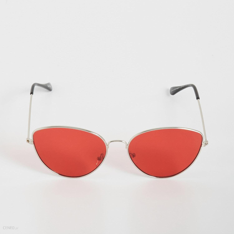 399960e7ee7f6a Sinsay Okulary Przeciwsłoneczne Cat Eye One Size Czerwony Vy94933X -  zdjęcie 1
