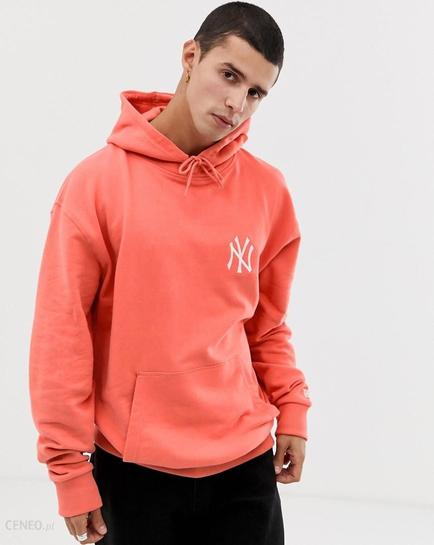 newest collection 5ca9b 5db3b New Era MLB New York Yankees hoodie with small chest logo in peach - Orange  - Ceneo.pl