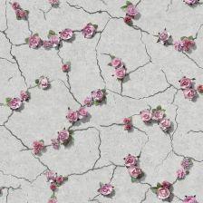 a83c2f59f1554a Tapeta Beton Z Różami 3D Winylowa Na Flizelinie