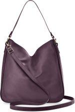 1c4680fcff126 Pojemna torebka damska na ramię torba worek duża shopperka z dwoma paskami  - fioletowy