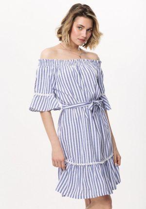 3bee3d8a68 S055 Sukienka kimono Beige - Ceny i opinie - Ceneo.pl
