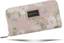 1c09a4d6ef3eb Włoskie Portfele Damskie w rozmiarze XL we wzór w kwiaty marki Diana&Co  Pudrowy Róż (kolory ...