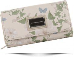 dcabfc52b6f9f Modne Portfele Damskie w kwiaty i motyle renomowanej marki Diana&Co Beżowe  (kolory) ...