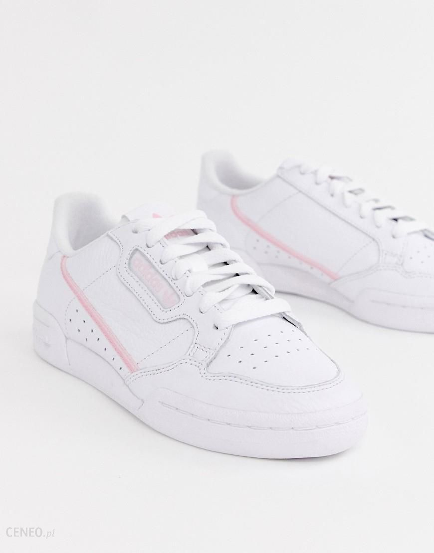 adidas Originals white and pink Continental 80 trainers White
