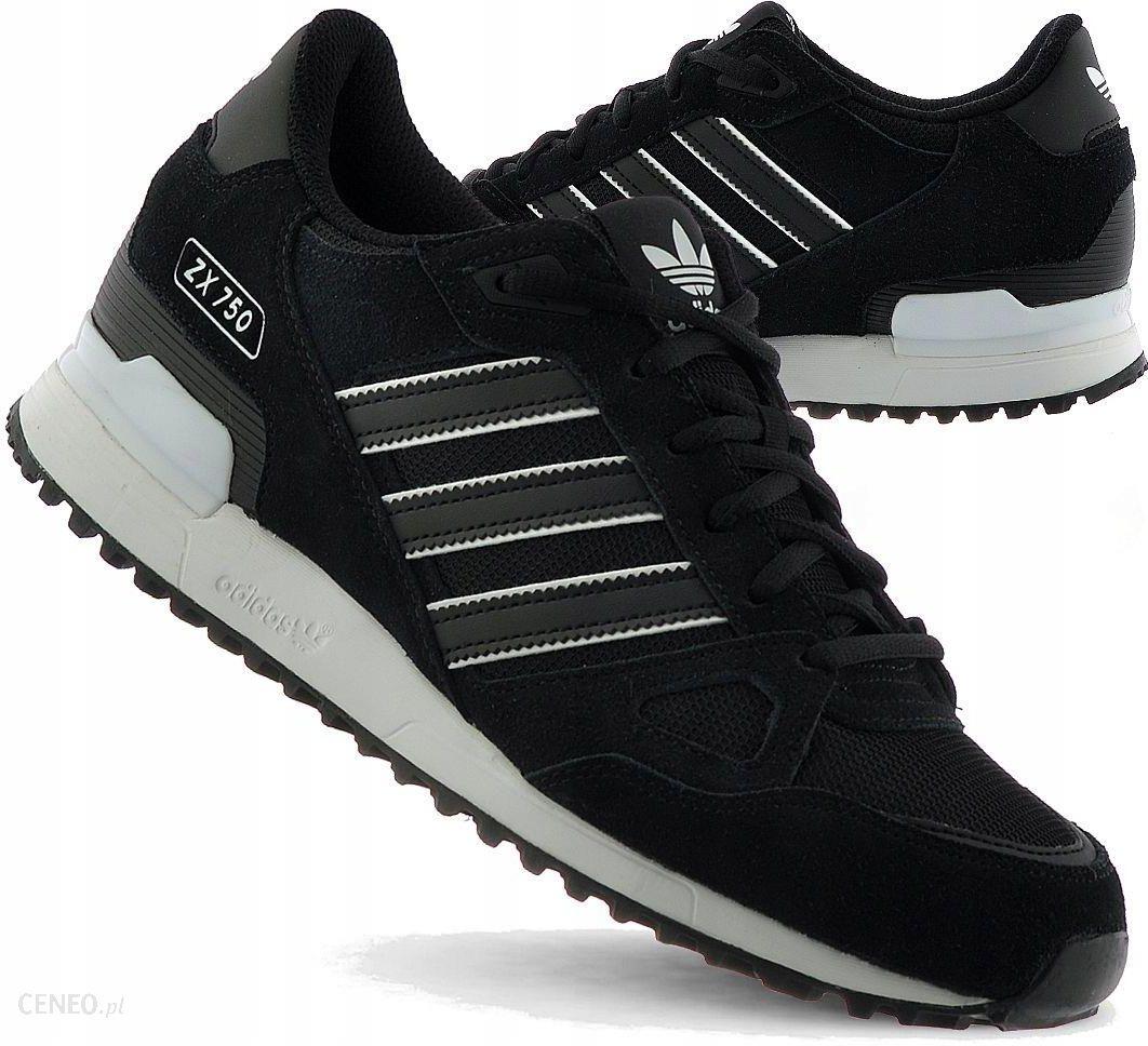 Adidas Buty Damskie ZX 750 BY9274 Skórzane Czarne