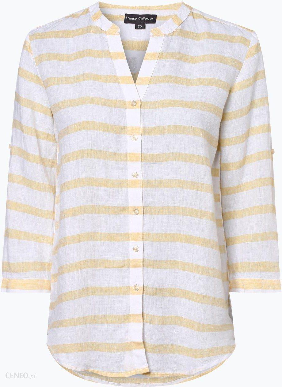 e08ee8e7b9 Franco Callegari Damska bluzka lniana żółty - zdjęcie 1