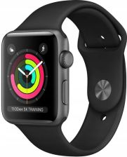 Apple Watch Series 3 GPS + Cellular 42mm Space Grey Aluminium Case with Black Sport Band (MTH22MPA)