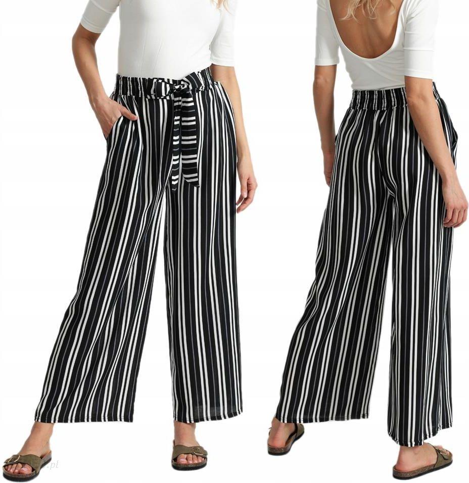 44d5c738 Szerokie spodnie w paski z kokardą culotte I10 W6 - Ceny i opinie - Ceneo.pl