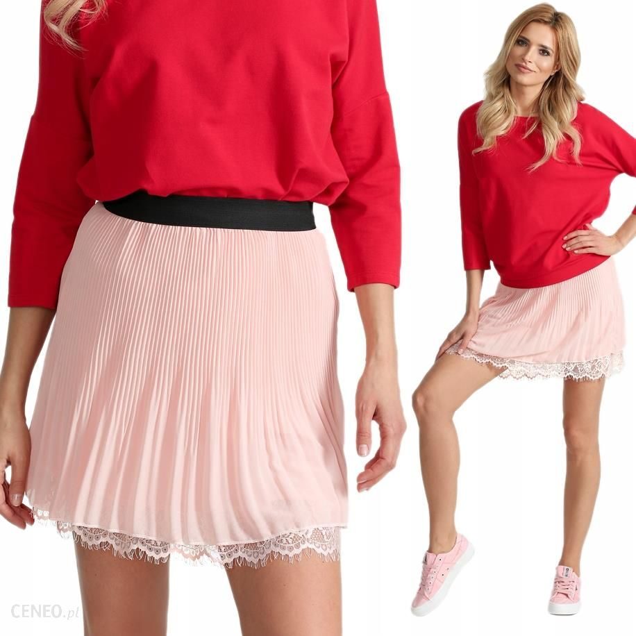 e532d6c0ab Plisowana spódniczka mini spódnica guma I29 P.róż - Ceny i opinie ...