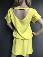d0130f7cb1 Żółta sukienka z wycięciem na plecach LA PERLA (rozmiar 36)