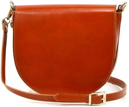 7757ee4920e77 Skórzana torebka listonoszka Vera Pelle ,frędzelek, zamsz Brown ...