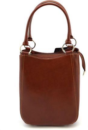 1b7f09417e087 Podobne produkty do Vera pelle Skórzana torebka shopper MAZZINI Carina  Treccia S147D Brown