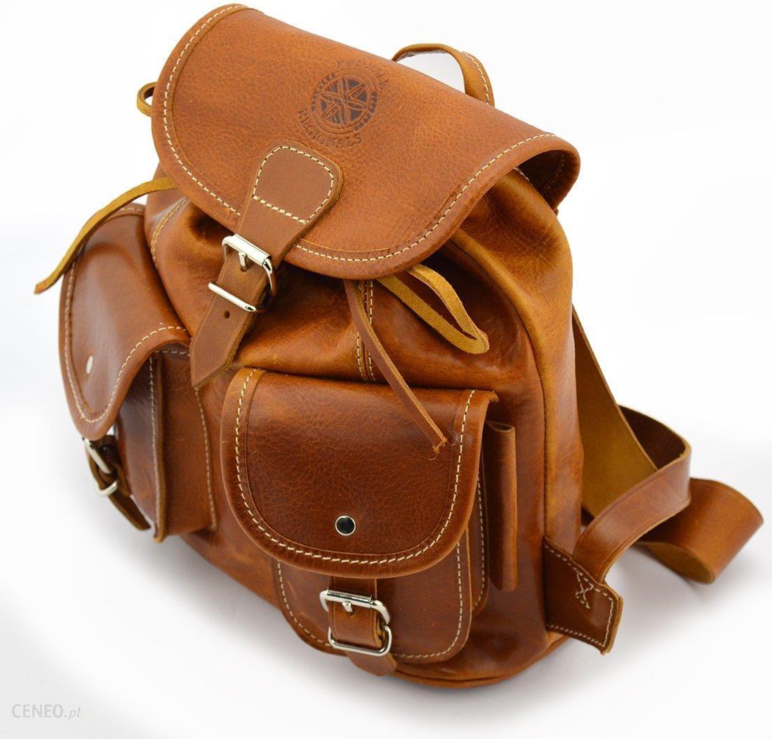 e7777e6355666 Klasyczny plecak Podhale Regionals b900 koniak - Skóra juchtowa premium ...