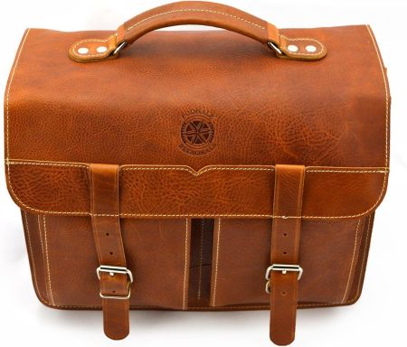 c3e84e8d33654 Klasyczna torba Podhale Regionals b916 koniak - Skóra juchtowa premium \  Koniak