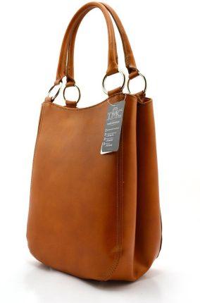 6e6c110ec9dd5 Torebka skórzana Shopper bag zamsz naturalny Ruda (kolory) - Ceny i ...