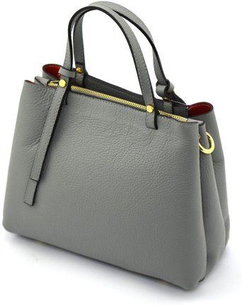 a3a7817613c52 Duża torba na ramię vera pelle xxl shopper bag włoska skóra czerwona ...
