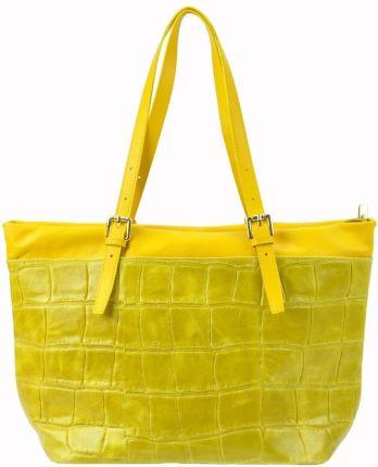 1d213f53a5d25 Carmelowa Włoska torba A4 Shopper Bag Vera Pelle Kokarda SB689C ...