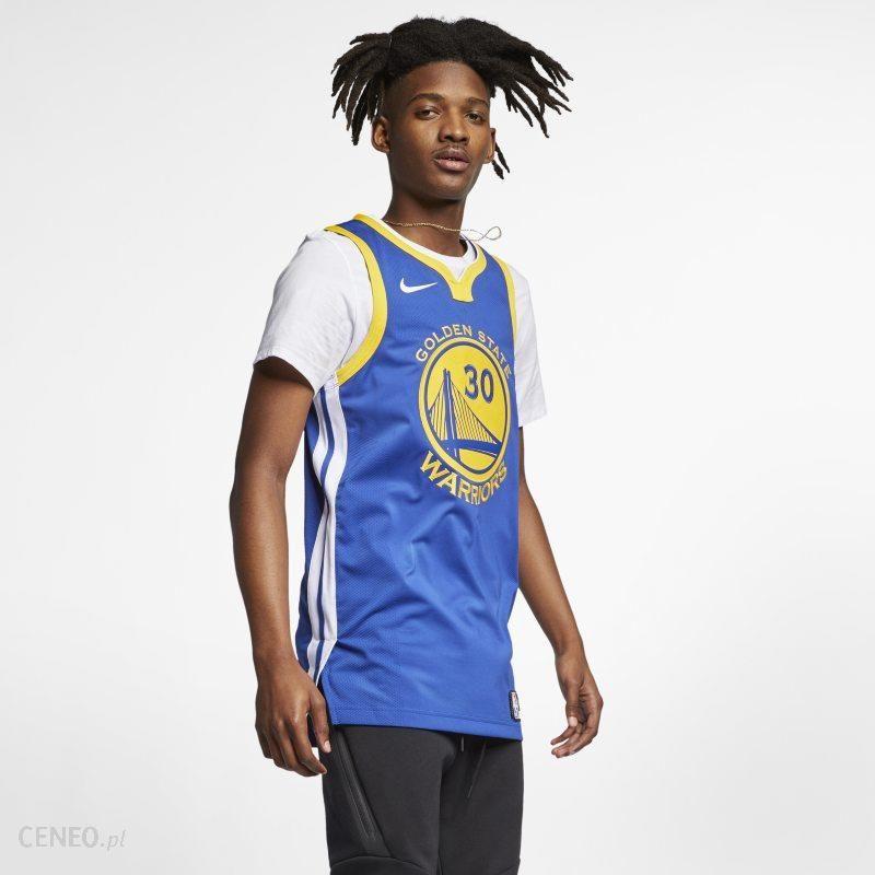 Nike Męska koszulka Nike NBA Connected Jersey Stephen Curry Icon Edition Authentic (Golden State Warriors) Niebieski Ceny i opinie Ceneo.pl