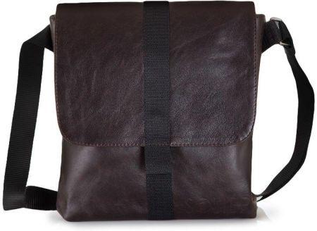 50e9ebba88b3a Podobne produkty do Saszetka GUESS - Uptown Logo HM3039 POL72 BLU. Skórzana  torba na ramię  tablet Solier Messel SL31 - Ciemny brązowy