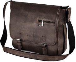 b01567deb0d97 Brązowa casual torba męska na ramię Solier S12 - Brązowy